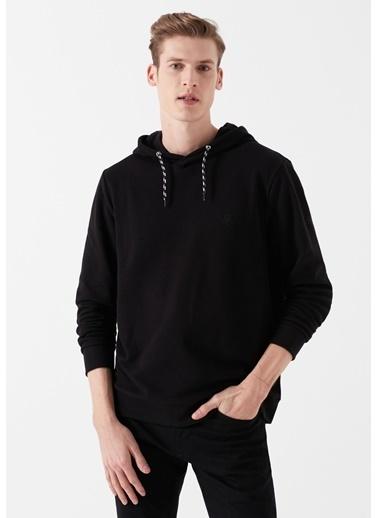 Mavi Kapüşonlu  Sweatshirt Siyah